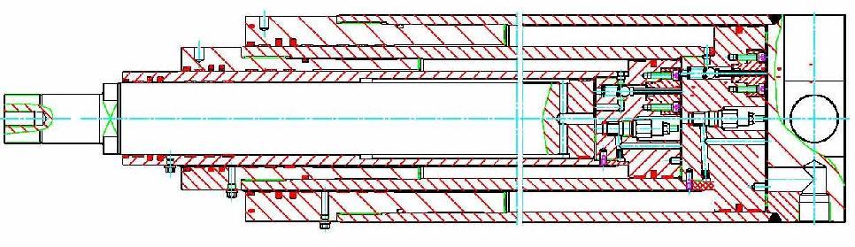 Konstruktion von Teleskop-Zylindern mit bis zu 8 Stufen, gleichlaufend oder nacheinander laufend