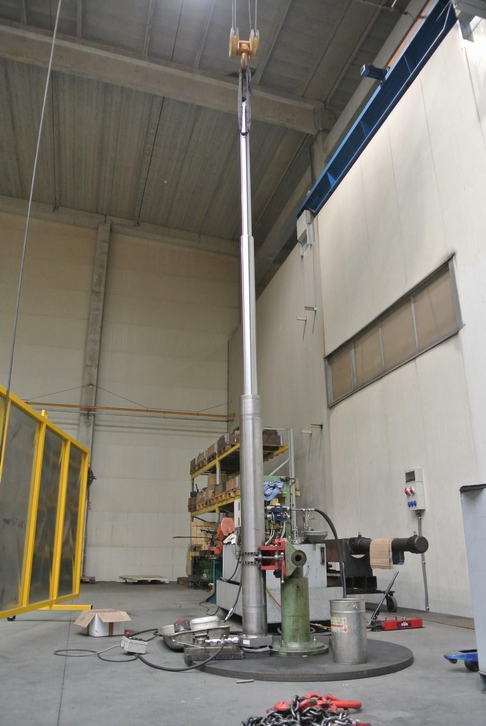 Ausprobe Teleskop-Zylinder